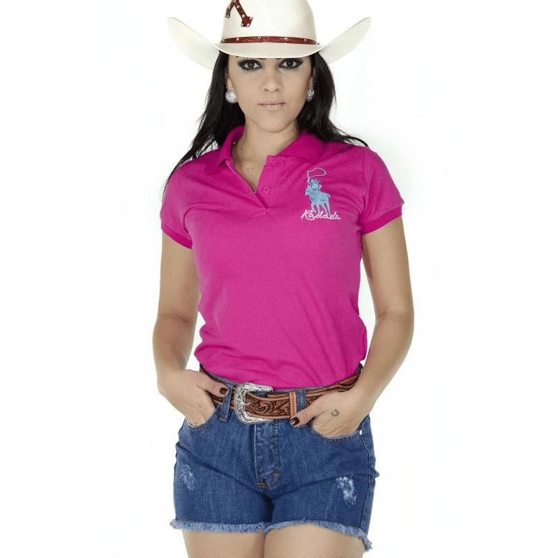 Camiseta polo rosa Radade