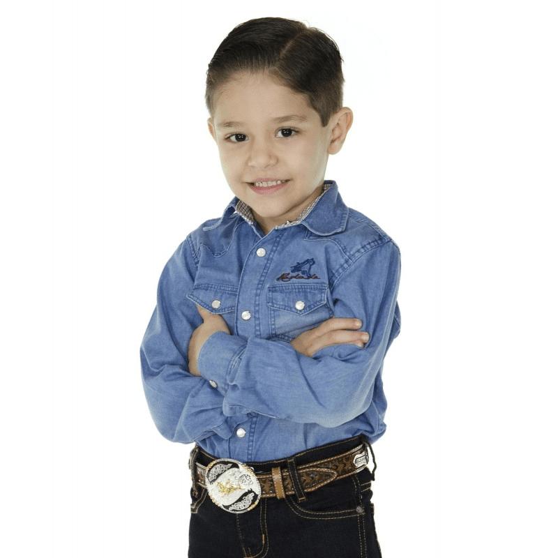 Camisa Radade Infantil Jeans