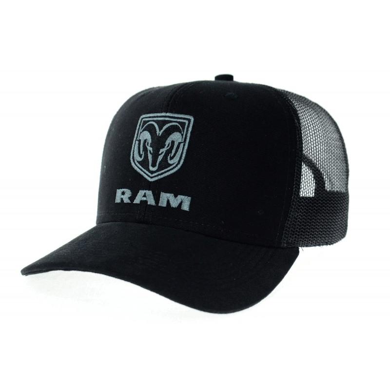 Boné Ram preto com tela preta