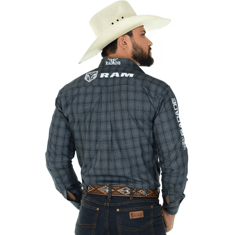 Camisa Ram Xadrez Preta
