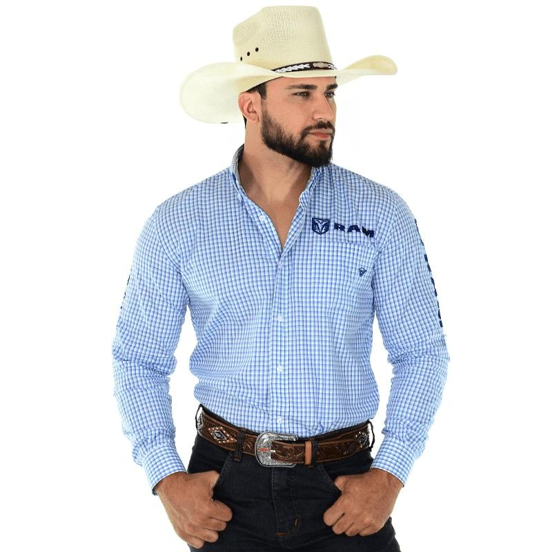 Camisa Ram Xadrez Azul