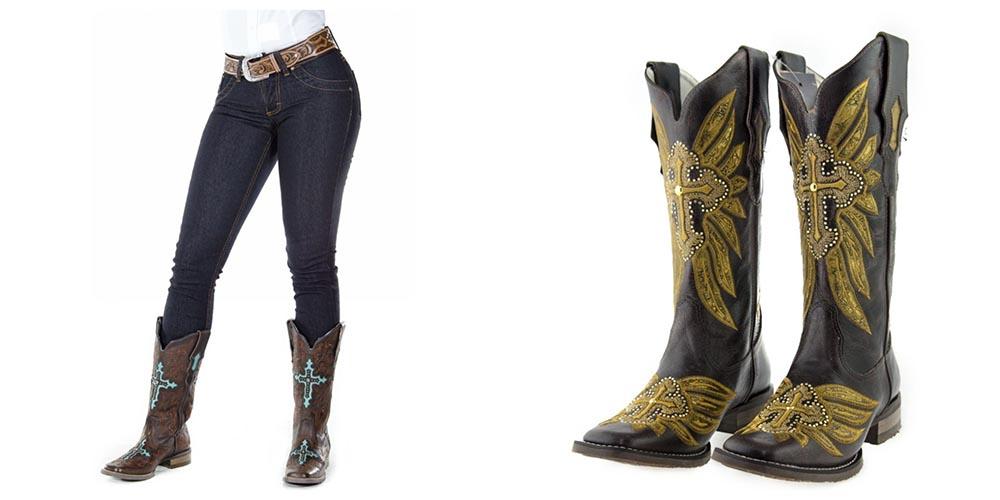 Bota – Como se vestir no inverno sem perder o estilo country – Calça e bota dd030b8a501